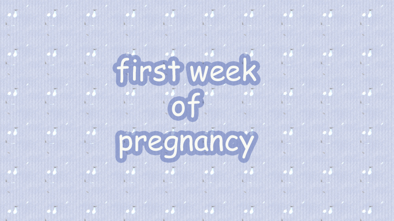 First Week of Pregnancy